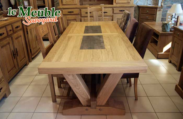 Table bois fabrication francaise for Table de campagne en bois